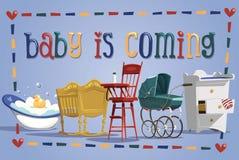 El bebé está viniendo Imagen de archivo