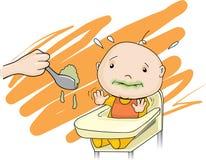 El bebé no tiene gusto del alimento Fotografía de archivo