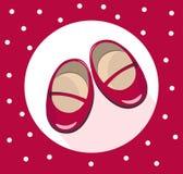 3764f75b55e El bebé rojo sostiene vector lindo de los zapatos Verano colorido  shoewearing stock de ilustración