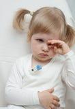 El bebé es enfermo Imagen de archivo libre de regalías
