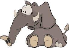 El becerro del elefante Imagen de archivo