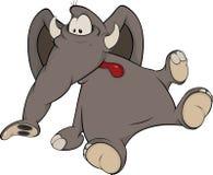 El becerro del elefante Imágenes de archivo libres de regalías