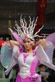 El Belleza-bailarín en un ornamento monstruoso Fotografía de archivo libre de regalías