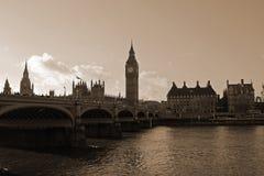 El Ben grande y el puente de Westminster Imágenes de archivo libres de regalías