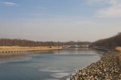 El Berzdorfer ve el lago Berzdorfer imagen de archivo libre de regalías