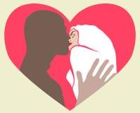 El besarse de dos amantes Foto de archivo libre de regalías