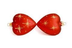 El besarse de dos corazones Foto de archivo libre de regalías
