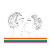El besarse de dos hombres Foto de archivo libre de regalías