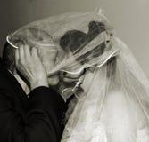 El besarse de los pares Imagen de archivo libre de regalías
