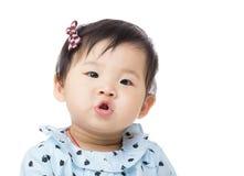 El besarse del bebé de Asia Foto de archivo