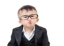 El besarse del bebé del negocio Imagenes de archivo