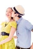 El besarse lesbiano de los pares Imagen de archivo libre de regalías