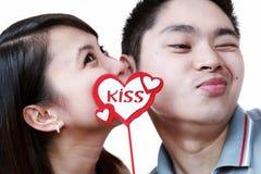 El beso Imágenes de archivo libres de regalías