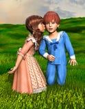 El beso del amor de la sorpresa