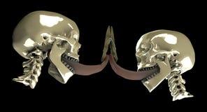 El beso - visión inferior Imágenes de archivo libres de regalías