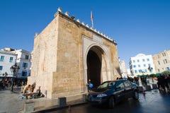 EL Bhar (Porte de Francia o cancello di Bab di mare) Fotografie Stock Libere da Diritti