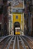 El Bica funicular - Lisboa, Portugal Imagen de archivo libre de regalías