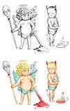 El bien y el mal libre illustration