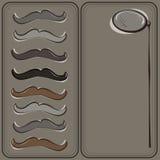 El bigote del inconformista y tarjeta de felicitación del monóculo Imágenes de archivo libres de regalías