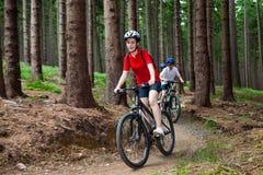 El biking de la familia Fotos de archivo libres de regalías