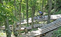 El Biking de la montaña Imagen de archivo