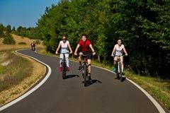 El biking del grupo Fotografía de archivo