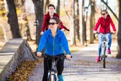 El biking del grupo Fotografía de archivo libre de regalías