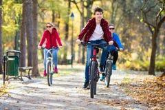 El biking del grupo Foto de archivo libre de regalías