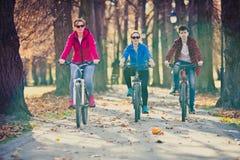 El biking del grupo Imagen de archivo