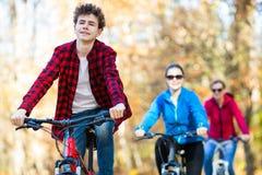 El biking del grupo Imagen de archivo libre de regalías
