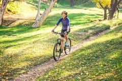 El Biking en el bosque foto de archivo libre de regalías