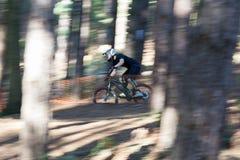 El biking en declive de la montaña Imagenes de archivo