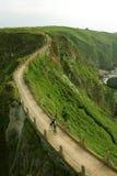 El Biking en el borde Fotografía de archivo libre de regalías