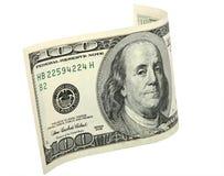 El billete de banco doblado Foto de archivo libre de regalías