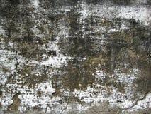 El blanco agrietado coloreó la pared expuesta a la textura de las formas del aire abierto Imagen de archivo