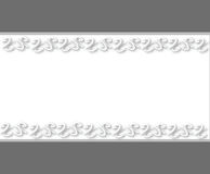 El blanco blanco la invitación Foto de archivo libre de regalías