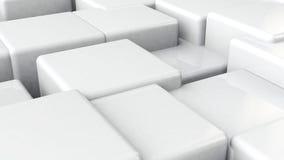 El blanco cubica el fondo Fotografía de archivo libre de regalías