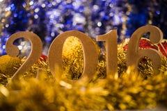 El blanco de la Navidad figura 2016 Imagen de archivo libre de regalías