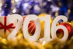El blanco de la Navidad figura 2016 Fotos de archivo libres de regalías