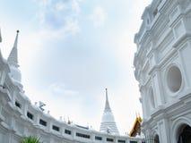 El blanco del templo de Prayun es hermoso foto de archivo