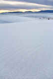 El blanco enarena New México Fotos de archivo