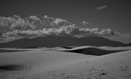 El blanco enarena New México Foto de archivo libre de regalías