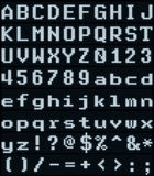 El blanco fresco punteó el sistema de la letra de la pantalla LED Fotos de archivo