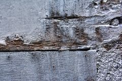 El blanco pintó la madera con mucho detalle en la textura imagen de archivo libre de regalías