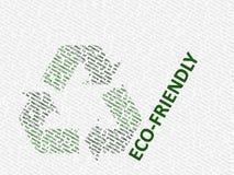 El blanco y el verde reciclan insignia Fotos de archivo libres de regalías