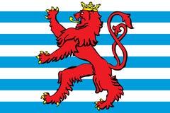 el blason Luxemburgo señala por medio de una bandera Imagen de archivo libre de regalías