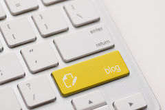 El blog incorpora llave Foto de archivo
