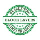 El bloque acoda - nos estamos contratando, venimos unirse a Fotografía de archivo libre de regalías