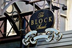 El bloque Arcade Street Sign - Melbourne Imágenes de archivo libres de regalías