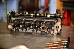 El bloque de cilindros Foto de archivo libre de regalías